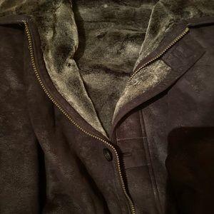Men's black suede jacket